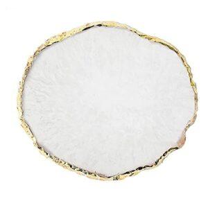 Nail Art Palette Ronde Résine Manucure Palette Couleur Gel Polonais Porte-mixage Blanc Outils à ongles