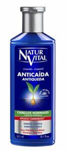 NaturVital NaturNature et Vie Shampooing Anti-chute Cheveux Normaux, Bleu, Fresh, 300 ml