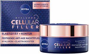 Nivea Hyaluron Cellular +Élasticité et Contour, soin de nuit anti-rides, 50 ml
