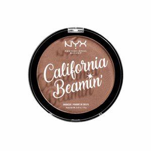 NYX Professional Makeup California Beamin' Bronzer Visage et Corps, Poudre de Soleil Compacte, Grand Format, Formule Vegan, Fini Satiné, 14 g, Teinte : Free Spirit