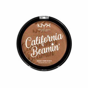 NYX Professional Makeup California Beamin' Bronzer Visage et Corps, Poudre de Soleil Compacte, Grand Format, Formule Vegan, Fini Satiné, 14 g, Teinte : Sunset Vibes