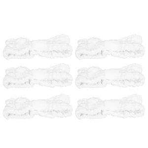 OhhGo Lot de 6 bandeaux élastiques doux en microfibre avec nœud pour le maquillage, le lavage du visage, le sport