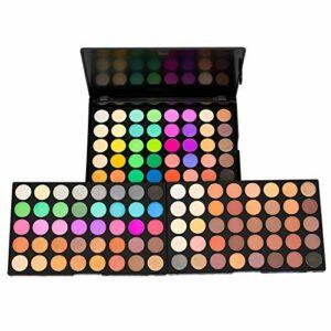 Palette de fards à paupières 120 couleurs, parfaitement combinables, mates, lumineuses, chatoyantes, pour des yeux séduisants.
