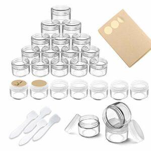 PAMIYO Boîte vide en aluminium de 20 ml pour baume à lèvres, lotion, crèmes, masques, mini bougies, cosmétiques
