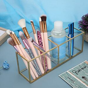 Porte-rangements d'outils de maquillage, en verre de haute qualité, alliage de qualité de matériau de qualité Sauvegarde de maquillage