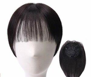Postiches de Couronne cachés avec Frange latérale Clip pour Femme en Cheveux Humains Accessoires de Maquillage