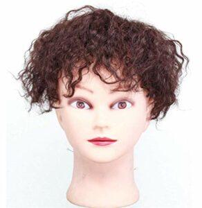 Postiches pour Cheveux clairsemés Femme Clip in Hair Topper Permanent Wave Culry Maquillage Accessoires