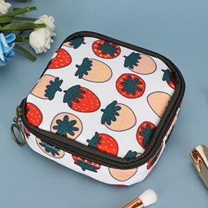 Pwshymi Portable Organisateur cosmétique Sac de Lavage Serviettes hygiéniques Organisateur Sac cosmétique pour Filles Dames pour Salle de Bain pour Salon de beauté(Strawberry)