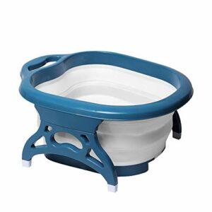 QBYLYF Baril De Pédicure Pliant Bain Foot Spa Massager Pliable Footbath Pied Rouleau De Massage Baignoire Pieds Baignoire Spa Bassin Fording Barrel Pieds Tremper Seau Pliant Bassin De Soins De Santé