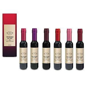 Rouge à lèvres mat longue durée, brillant à lèvres imperméable pour bouteille de vin rouge (A SET)