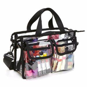 Sac transparent en EVA cosmétique Sac de rangement portable de voyage de maquillage pour femmes et filles Sac de toilette étanche Sac bandoulière Sac pour plage Voyage