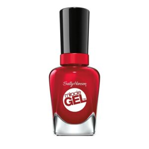 Sally Hansen – Vernis à ongles Miracle Gel – Effet Gel longue tenue – Sans lampe UV – Facile à enlever – 680 Rhapsody Red 14,7 ml