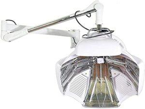Sèche-cheveux en orbite multizone Capuche de séchage Capuche de coiffeur Processeur de coloration des cheveux et accélérateur de séchage Machine de coiffage pour le traitement des cheveux avec support