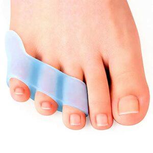 Séparateurs des orteils, 2pcs petit séparateur à orteil trois trous se chevauchant des ortets omnion blister douleur soulagement orteteur protecteur outil de soin de pied hallux Valgus redresseur doul
