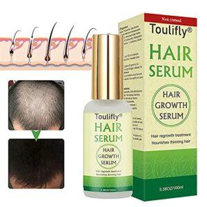 Sérum de Croissance de Cheveux, Anti Chute de Cheveux, Hair Growth Serum, Pour Cheveux Clairsemés, Epaississants et Régénérants, Pour une Croissance Rapide des Cheveux-100ml