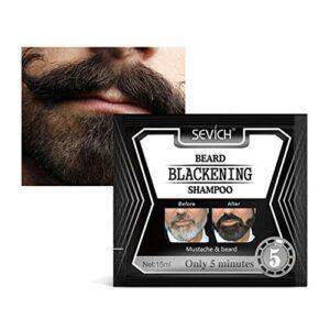 Shampooing Noircissant Barbe, Naturel Sans Stimulation Teint Shampooing Barbe Soins De La Barbe, Aide à Préserver et à Intensifier la Luminosité de la Couleur des Cheveux