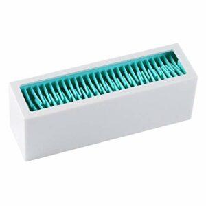 Sharplace Cosmétique Maquillage Brosses Titulaire Silicone de Stockage Rack pour Cosmétique Outils, Facile à Nettoyer – Blanc Bleu