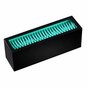 Sharplace Cosmétique Maquillage Brosses Titulaire Silicone de Stockage Rack pour Cosmétique Outils, Facile à Nettoyer – Noir Bleu