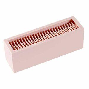 Sharplace Cosmétique Maquillage Brosses Titulaire Silicone de Stockage Rack pour Cosmétique Outils, Facile à Nettoyer – Rose