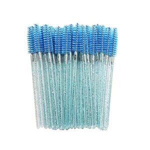 SHENG shengyuan 1000 pcs Glitter Mascara Bagueuses jetables Tyelash Broyons adaptés aux Extensions Eye Cadre Applicateur Cristal Poignée de Maquillage (Handle Color : Blue)