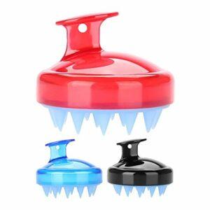 Silicone Hair Shampoo Brush, Massager pour cuir chevelu, 3Pcs Shampoo Brush, Gommage du cuir chevelu et Brosse pour pellicules pour le soin du cuir chevelu. Douche, masseur pour le cou et le corps