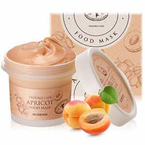 SKIN FOOD abricot alimentaire masque 120g (4,23 oz) – pore de compensation et de la peau apaisante délavement masque rose calamine, saine et lisse la peau, la texture de douche-preuve