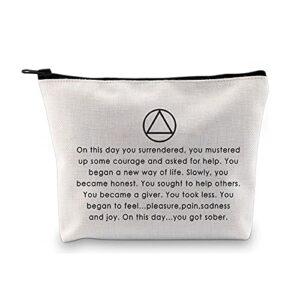 Sobriety Gift Trousse de toilette pour dédiction AA, cadeau pour la santé des alcoolisés, cadeau anonymous