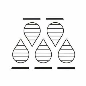 Support de Rangement Mural pour Vernis à Ongles en métal, présentoir de Vernis à Ongles de Salon à 5 Couches, étagères flottantes de Stockage de Maquillage/cosmétiques/parfums ZDDAB