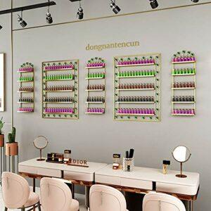 Support de Stockage de Vernis à Ongles étagère Murale, Présentoir de Vernis à Ongles 5 Couches, Étagères de Stockage de Stockage de Maquillage/Parfum, Salon de manucure pour Salons de Spa à domici