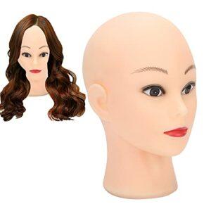 Support de Tête pour L'affichage de Perruques, Support de Tête de Perruque de Buste, Chapeaux de Tête de Mannequin Chauve Lunettes Affichant des Perruques Faisant la Pratique du Mannequin de Tête en P
