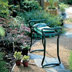 Tabouret de banc à genoux de jardin et de siège avec des pochettes à outils doux EVA Mousse pour jardinage, jardin à genoux, plateau d'outils pour la désherbage, la plantation ou les soins de la pelou