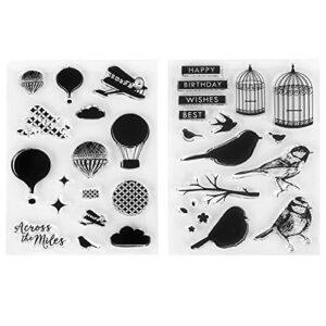 Tampons transparents, 2 pièces pour la peau, carte de tampon bricolage simple et pratique, recyclable pour la fabrication de cartes de vacances pour accessoires décoratifs