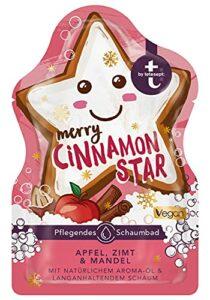 t:by tetesept Bain moussant Merry Cinnamon Star avec parfum hivernal – Mousse de bain moelleuse pour une expérience de bain hivernale – Additif de bain nourrissant – 1 x 40 ml