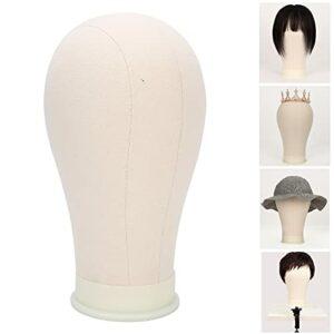 Tête de liège, pratique de la tête de perruque Conception humanisée bien faite pour les chapeaux d'affichage Perruques, chapeaux de douche, serviettes pour le visage, lunettes pour(21 inches)