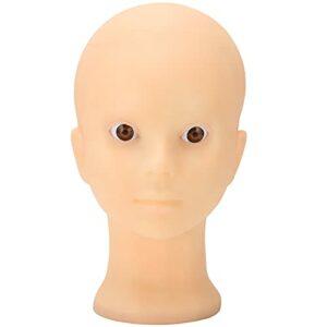 Tête de mannequin chauve en PVC, mannequin de tête d'affichage pour chapeaux de perruque(# 2)