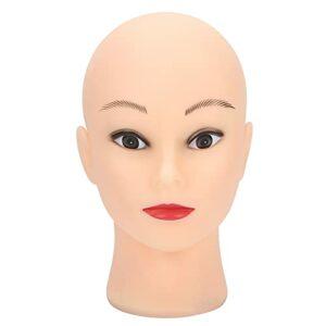 Tête de Mannequin Modèle PVC Pratique Maquillage Tête Tête D'entraînement Chauve pour Chapeaux Affichant des Lunettes Perruques Faisant et Tête D'affichage