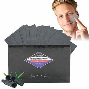 Tissus absorbant l'huile, 80pcs / pack Men Blotter Face Contrôle d'absorption d'huile Blotting Face Clean Beauté Blotting Paper