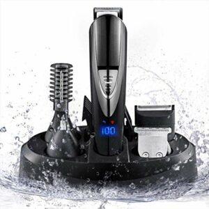 Tondeuse à cheveux Tondeuse à barbe rasoir électrique professionnel Fader usage personnel rechargeable Sculpture avec précision multi-fonctionnelle rasage machine Trousse de toilette Kit de toilettage