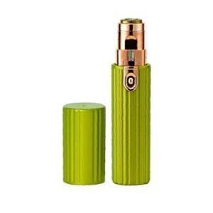 Tondeuse à sourcils de la peau de cheveux 2 en 1 mini épilation USB rechargeable Rouge de lèvres Rouge à lèvres en rouge à lèvres en forme de rouge à lèvres vert, outil de sourcil