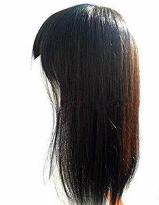 Top postiche avec Frange pour Femme 18 Pouces Couronne de Cheveux Humains Clip Topper dans Les Accessoires de Maquillage