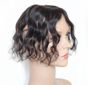 Toppers de Cheveux Humains 7x10cm pour Femmes, Clip dans Les Accessoires de Maquillage