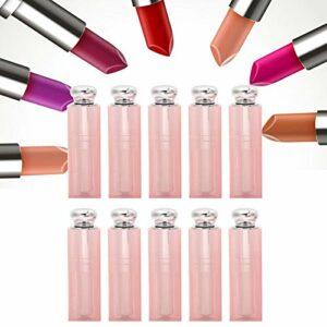 Tube de rouge à lèvres contenant de baume à lèvres en plastique pour les articles de toilette pour les voyages pour les femmes