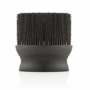 Vivezen ® Balai à cou large 12 cm pour poils, barbes, cheveux – Noir – Norme CE