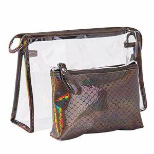 Weimay Lot de 2 sacs de toilette pour femme et homme Imperméable Taille L : 18 x 7 x 26 cm ; 11,5 x 3,5 x 17,5 cm