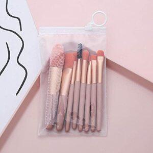 Whitely Set de pinceaux de maquillage – Convient pour fond de teint, blush, fard à paupières, anti-cernes, etc. – Portable – Mini gommage (poudre de corail)
