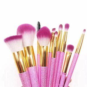 YGB Pinceaux de Maquillage, décoration de beauté correcteur 10 Types de pinceaux de Maquillage Licorne colorée Poudre de Cerise Gommage Outils de Maquillage beauté Ensembles de pinceaux