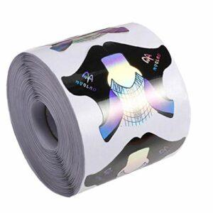 Yililay 300 pièces Nail Art Forms Extension Guide Autocollant manucure Papier Design pour l'acrylique Gel UV Nail Art Soins Nails