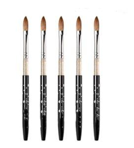 YONGFENG WANGml 10pcs Brosse à Ongles Acrylique Set Brosses acryliques Brushes à Ongles Nail Art Taille N °, 2,4,6,8,10 (Color : 10pcs Size 10)