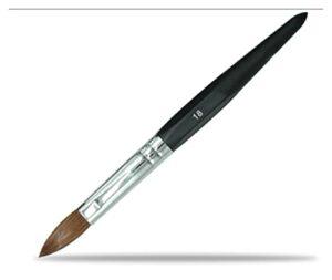 YONGFENG WANGml Brosses Cheveux Brosse Acrylique Brosse à Ongles manucure Poudre de pédicure Art Outils (Color : Size 18)