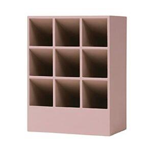 YZERTLH Boîte de Rangement de Rouge à lèvres Neuf Grille Silicone créative Fille Coeur en Forme de Coiffe de Toilette de Bureau de Maquillage de Rouge à lèvres (Color : Pink)